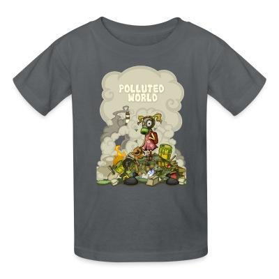 T-shirt enfant Polluted world