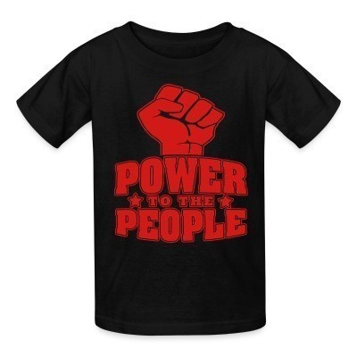 T-shirt enfant Power to the people