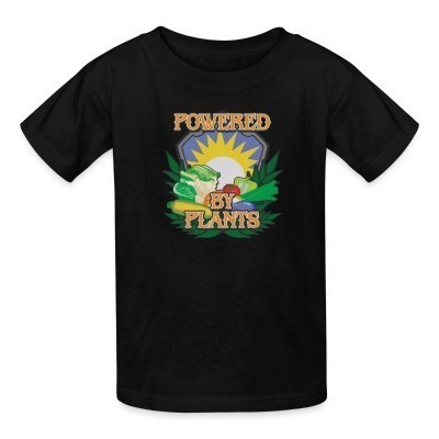 T-shirt enfant Powered by plants