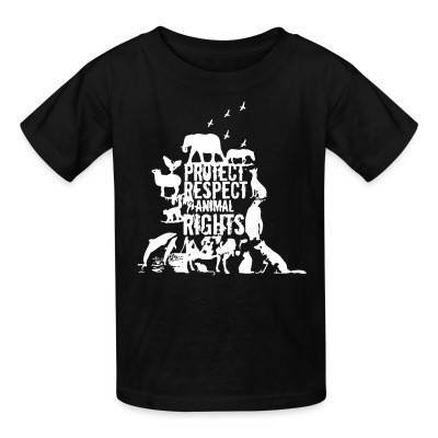T-shirt enfant Protect respect animal rights