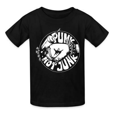 T-shirt enfant Punk not junk