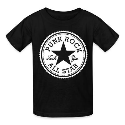 T-shirt enfant Punk Rock All Star