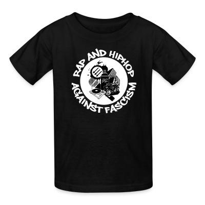 T-shirt enfant Rap and HipHop against fascism