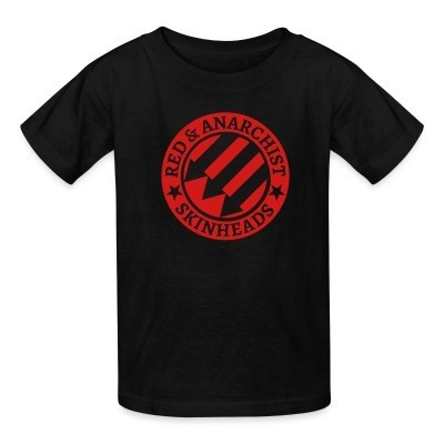 T-shirt enfant Red & anarchist skinheads