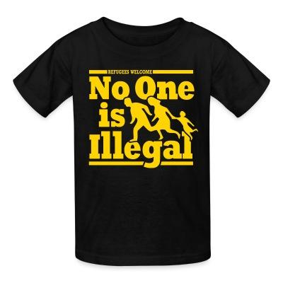 T-shirt enfant Refugees welcome - no one is illegal