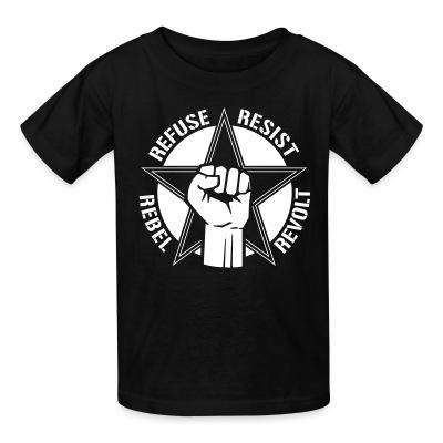 T-shirt enfant Refuse resist rebel revolt
