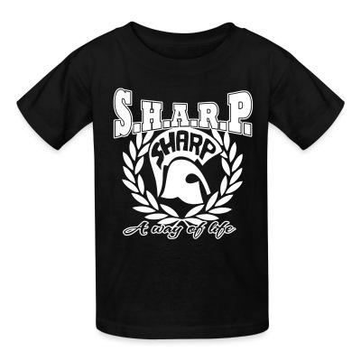T-shirt enfant S.H.A.R.P. a way of life
