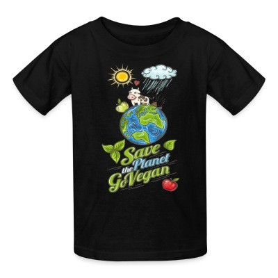 T-shirt enfant Save the planet go vegan