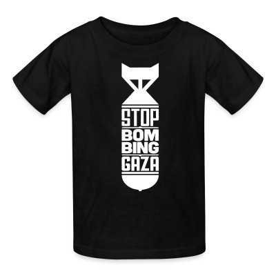 T-shirt enfant Stop bombing Gaza