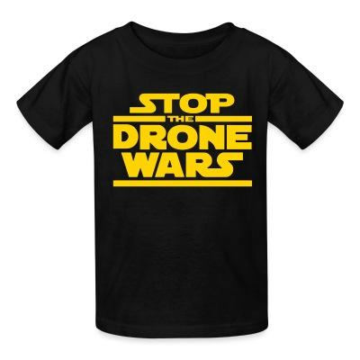 T-shirt enfant Stop the drone wars