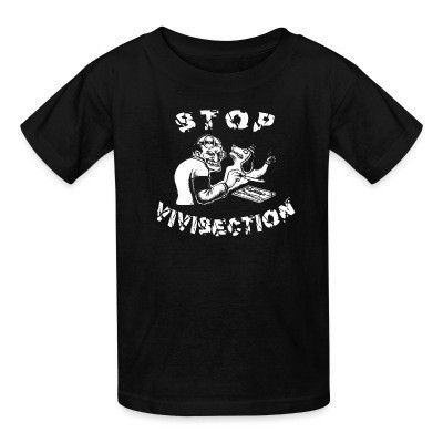 T-shirt enfant Stop vivisection