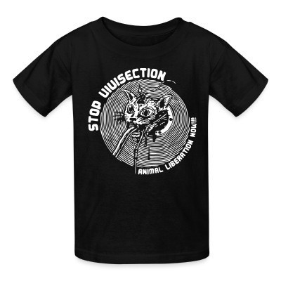 T-shirt enfant Stop vivisection - animal liberation now!!!