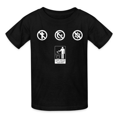 T-shirt enfant Thank you for not littering your mind
