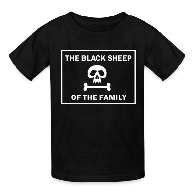 T-shirt enfant The black sheep of the family