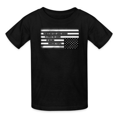 T-shirt enfant There is no flag large enough to cover the shame of killing innocent people