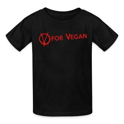 T-shirt enfant V for Vegan