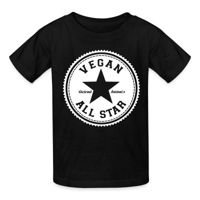 T-shirt enfant Vegan all star. Defend animals