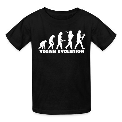 T-shirt enfant Vegan evolution