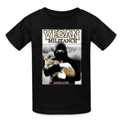 T-shirt enfant Vegan militance saves lives