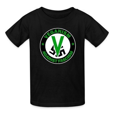 T-shirt enfant Veganism against fascism