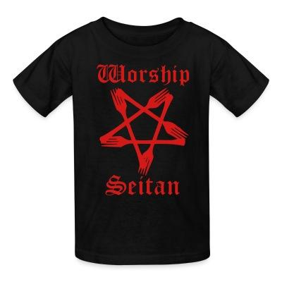 T-shirt enfant Worship seitan