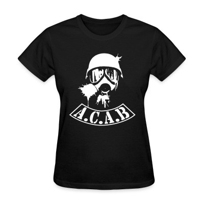 T-shirt féminin A.C.A.B. All Cops Are Bastards
