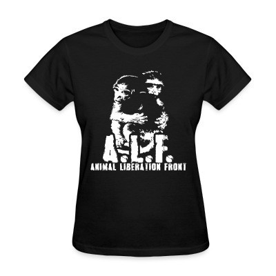 T-shirt féminin A.L.F Animal Liberation Front