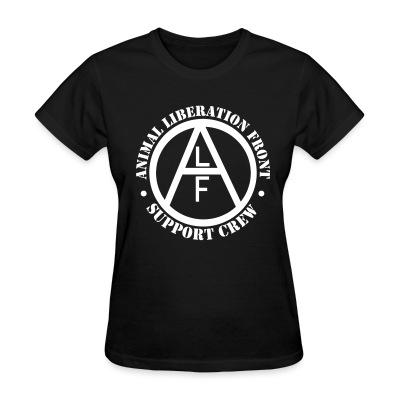 T-shirt féminin ALF Animal Liberation Front support crew
