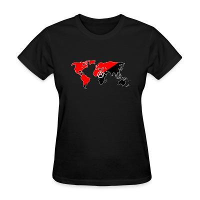 T-shirt féminin Anarchism & internationalism