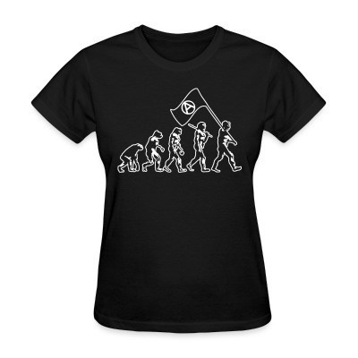 T-shirt féminin Anarchist evolution