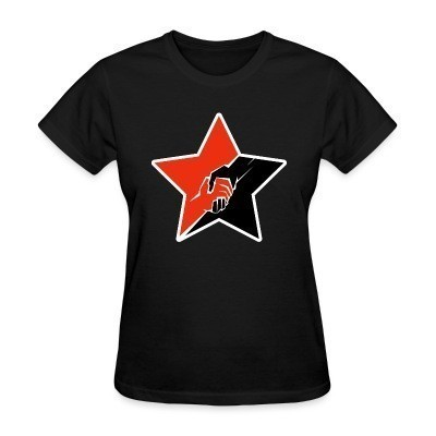 T-shirt féminin Anarcho-Communist Red & Black Star