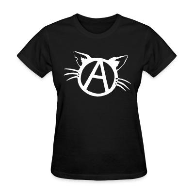 T-shirt féminin Anarchy cat