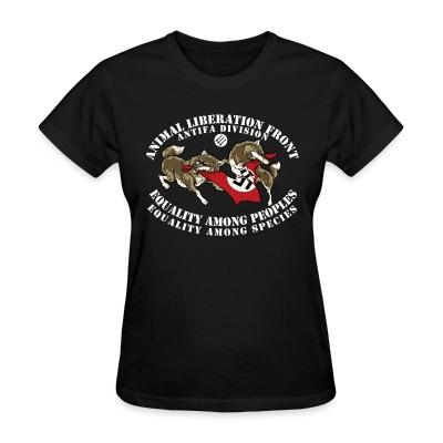 T-shirt féminin Animal Liberation Front antifa division - equality among peoples, equality among species