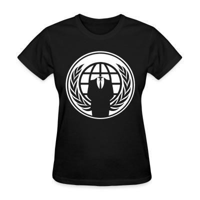 T-shirt féminin Anonymous