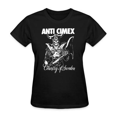 T-shirt féminin Anti Cimex - Country of Sweden