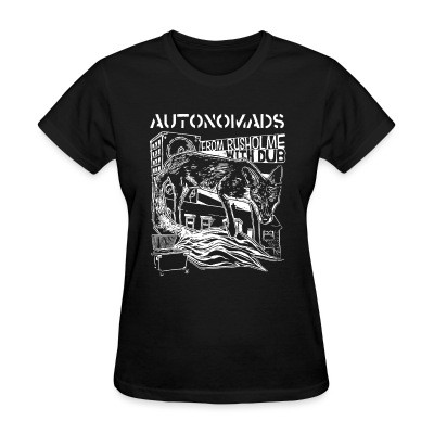 T-shirt féminin Autonomads - from rusholme with dub