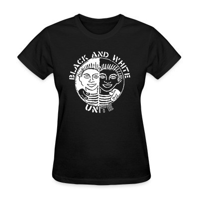 T-shirt féminin Black and white unite