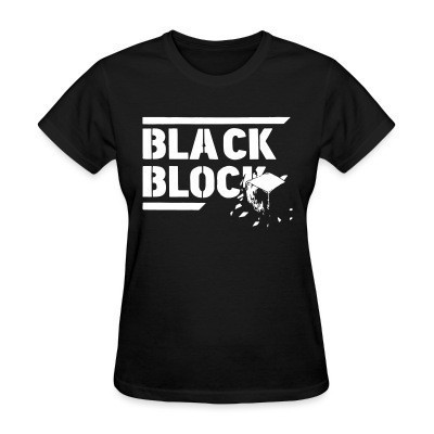 T-shirt féminin Black block