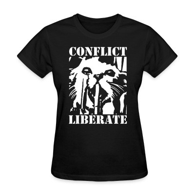 T-shirt féminin Conflict - liberate