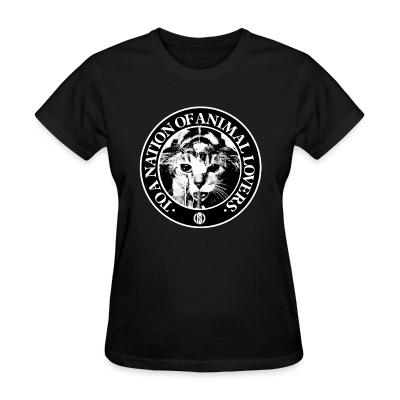 T-shirt féminin Conflict - To a nation of animal lovers