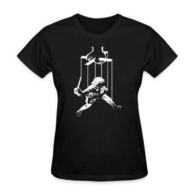 T-shirt féminin Cops are manipulated