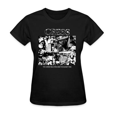 T-shirt féminin Cress - the greed machine and the money tree