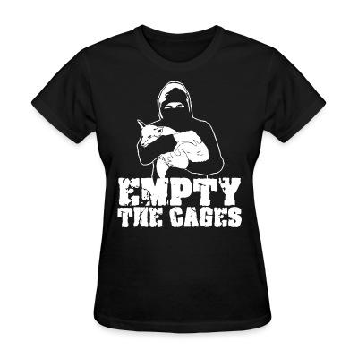 T-shirt féminin Empty the cages