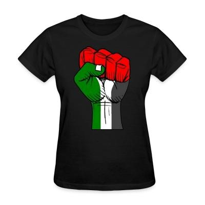 T-shirt féminin Palestine Raised Fist