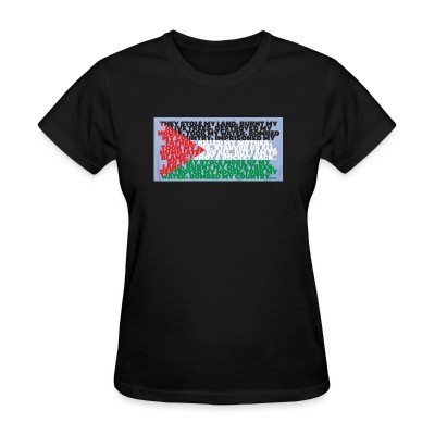 T-shirt féminin Palestine - They stole my land
