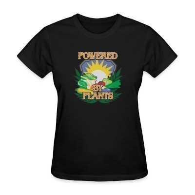 T-shirt féminin Powered by plants
