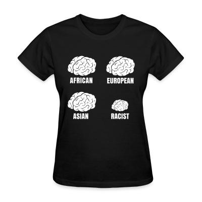 T-shirt féminin Racist small brain