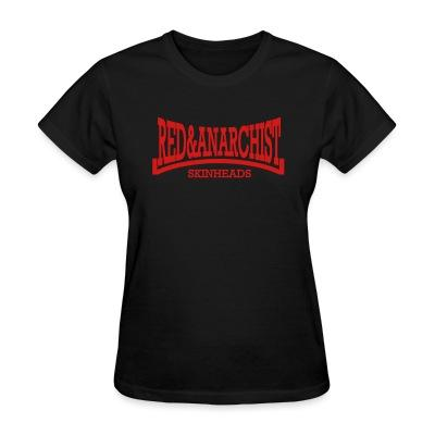 T-shirt féminin Red & anarchist skinheads