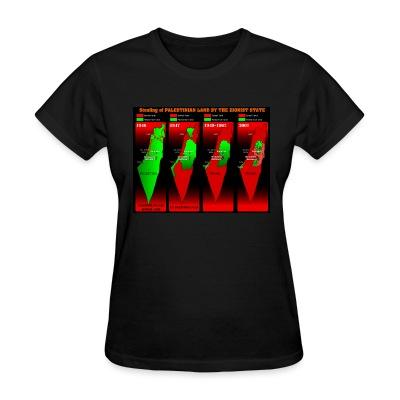 T-shirt féminin Stealing of Palestinian land by the zionist state
