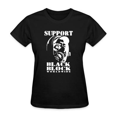 T-shirt féminin Support black block worldwide